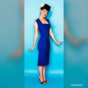 Bettie Page S ella blue cocktail dress